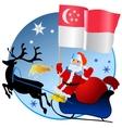 Merry Christmas Singapore vector image