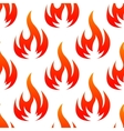 Red and orange fire flames seamless pattern vector image