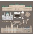 Austrian City sights in Vienna Austria Landmark vector image