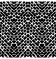 Black and white hand painted zig zag pattern vector image
