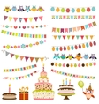 Color Birthday bunting set vector image vector image