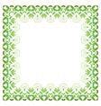 Floral Frame decorative flower ornament vector image