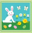 bunny and chicks vector image
