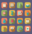 modern flat icons of web design objects business vector image vector image