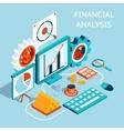 3D Financial Analysis Concept Design vector image