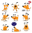 cartoon dogs vector image