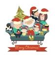 Family celebrating Christmas vector image