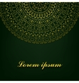 Background with round ornate vector image