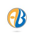 Creative alphabet A and B letter logo vector image