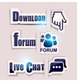 Download Forum Chat Icons vector image