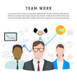 infographic of team work in flat style vector image