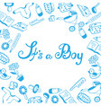 it s a boy baby shower birth announcement vector image