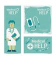 nursing healthcare banners set vector image