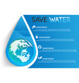 Save water info vector image