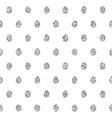 Seamless Background With Silver Eggs vector image