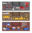 Work Tools Horizontal Banners Set vector image