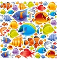 Seamless Sea travel icon set underwater diving vector image