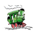 retro cartoon locomotive vector image
