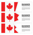 canada flag banners collection independence day vector image