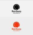 black beauty girl logo vector image