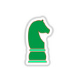 in paper sticker style chess vector image