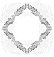 grey and white vintage frame vector image vector image