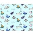 Hand-drawn doodle-style ships and boats seamless vector image