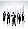 global businessmen vector image vector image