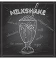 Milkshake scetch on a black board vector image