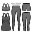 Women sportswear vector image