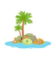 big pile of money lying on a tropical island vector image