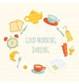cute morning breakfast frame vector image