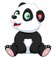 cute panda cartoon sitting vector image
