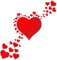 Falling in love with hearts background vector image
