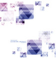 Geometric technological reflected round square vector image