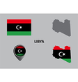 Map of Libya and symbol vector image