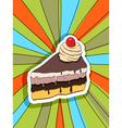 pop art slice of cake vector image
