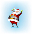 Santa Claus holding a candy vector image