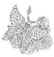 Stylized tropical lace butterfly of paradise vector image