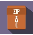 ZIP file icon flat style vector image