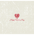 grunge valentines day background 1701 vector image
