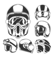 Motorcycle Helmet Collection vector image