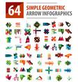 geometric arrow infographics mega collection vector image