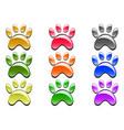 color paw prints icon vector image