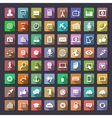 Big flat icons collection vector image
