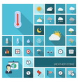 WEATHER icons with long shadow vector image