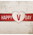 Happy Valentines Day realistic light Heart Label vector image