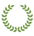 green laurel design element vector image vector image