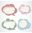 Vintage bubbles for speech vector image