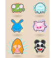 Angry animals vector image